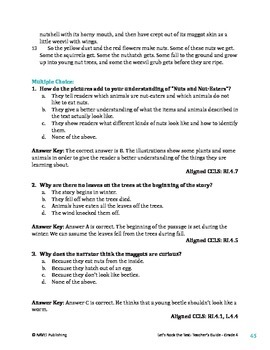 Wild Life in Woods and Fields - Informational Text Test Prep