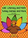 Wild Literacy and Math Turkey Games