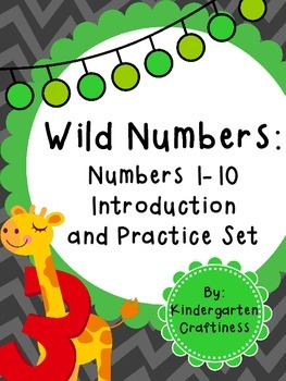Wild Numbers: Numbers 1-10 Introduction and Practice Set