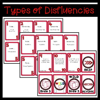 Fluency (Stuttering) Card Game: Wild One