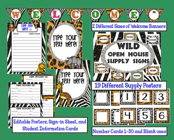 """Wild"" Open House Supply Signs and More"