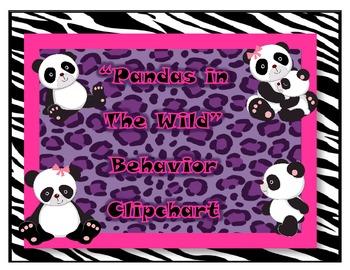 Wild Pandas Animal Print Clipchart