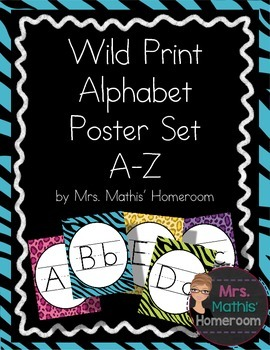Wild Animal Print Alphabet Posters (Alphabet Line)