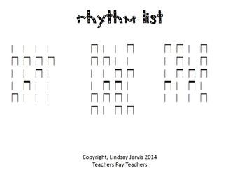 Wild Rhythm Races: ta and titi