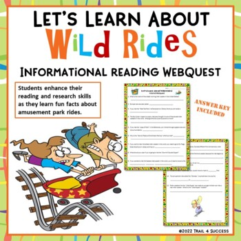 Wild Rides Roller Coasters Webquest Reading Internet Research Activity