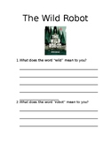 Wild Robot Introduction Sheet