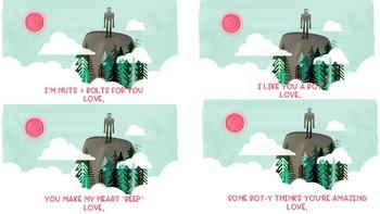 Wild Robot Valentine Printables