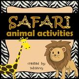 Safari Animal Activities - Common Core Aligned!
