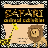 Safari Animal Activities - Common Core Aligned!
