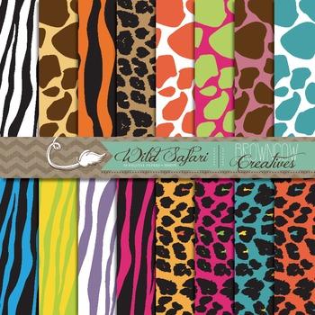 Wild Safari Backgrounds/Digital Papers