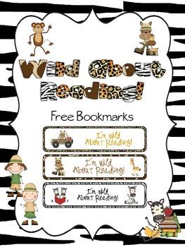 Wild Safari FREE bookmarks