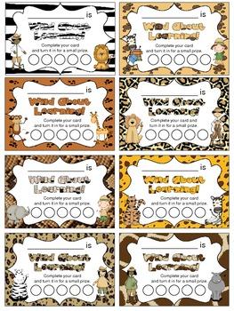 Wild Safari Punch Card Sampler