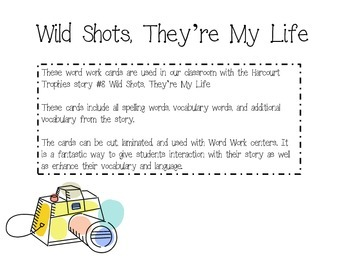 Wild Shots, They're My Life Fluency Cards - Harcourt