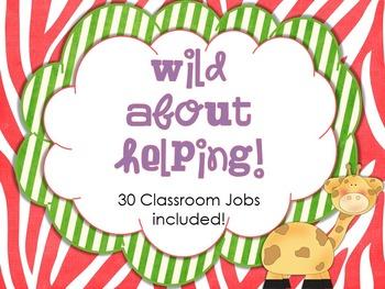 Classroom Jobs - Wild Themed