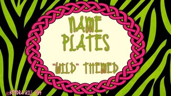 Name Plates - Wild Themed