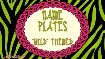Name Plates - Wild Themed