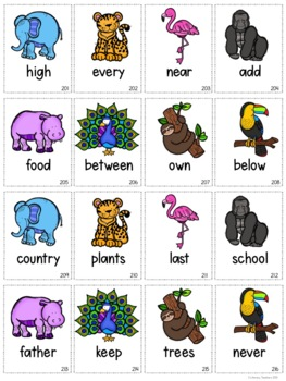 Wild Things! A Printable Sight Word Packet for the Third 100 Fry Words