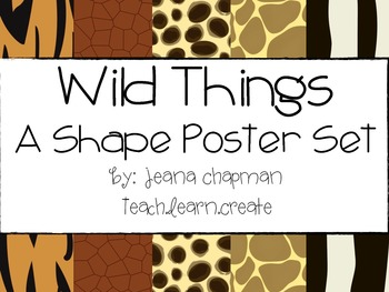 Wild Things: A Shape Poster Set