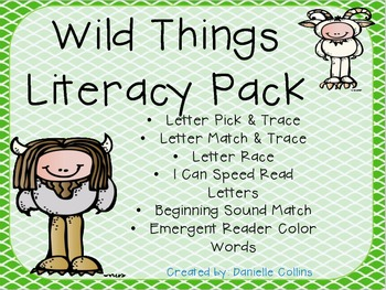 Wild Things Literacy Pack A (Kinder) CCSS