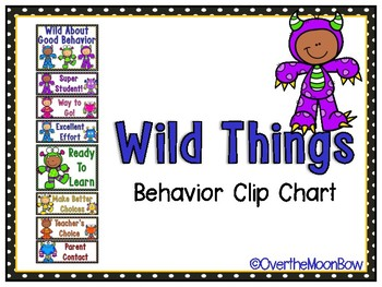 Wild Things | Monster Clip Chart