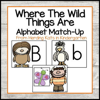 "Where the Wild Things Are"" Themed Alphabet Match-Up"