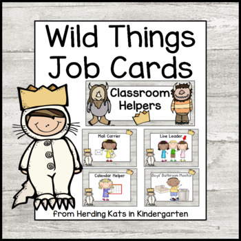 Wild Things Themed Classroom Job Signs