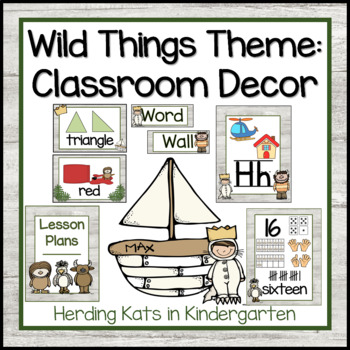 Wild Things Themed Classroom Poster Decor Bundle