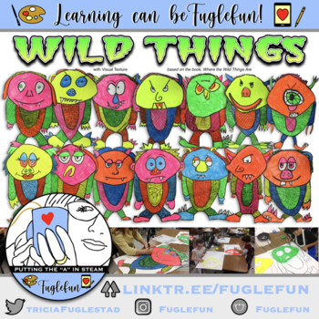 Wild Things w/ Visual Texture Step-by-Step Powerpoint Drawing & Painting Lesson