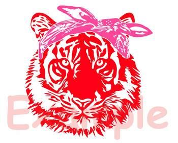 Wild Tiger Head bandana SVG wild animal african king zoo football 918S
