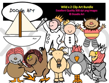 Wild Times Two Clipart Bundle