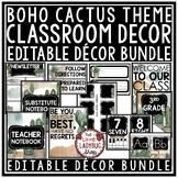 Wild Boho Cactus Classroom Decor EDITABLE -Boho Classroom Decor