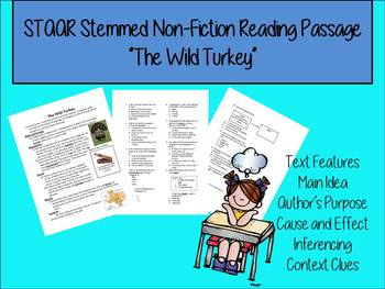 Wild Turkey Nonfiction STAAR reading passage and questions