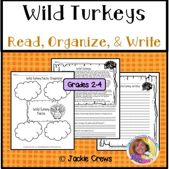 Wild Turkey Reading Comprehension w/ Extended Response/Main Idea