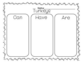 Wild Turkeys {Informational Text}
