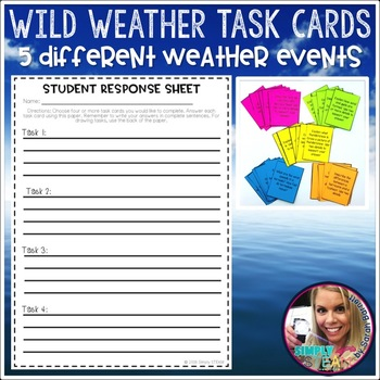 Wild Weather Task Cards and Project