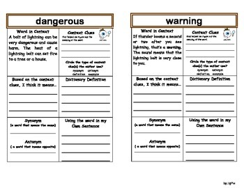 Wild Weather-Context Clues (McGrawHill Wonders 2nd Grade)