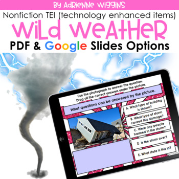 Wild Weather NF TEI Practice (Google Classroom & PDF) Distance Learning
