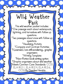 Wild Weather Non-Fiction Pack