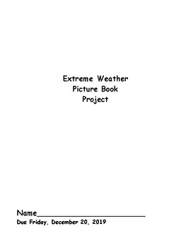 Wild Weather Picture Book Project