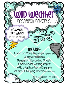 Wild Weather Research Reports (Common Core Aligned)