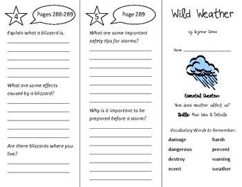 Wild Weather Trifold - Wonders 2nd Grade Unit 3 Week 4