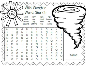 Wild Weather Word Search