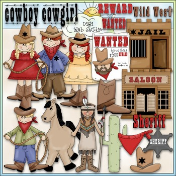 Wild West 1 - Commercial Use Clip Art & Black & White Images