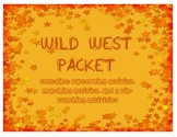 Wild West Activity Packet