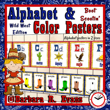 WILD WEST ALPHABET & BOOT SCOOTIN' COLOR POSTERS