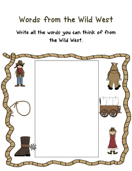 Wild West Back to School Pack for Second Grade