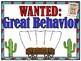 Wild West | Behavior Clip Chart