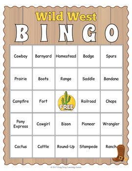 Wild West Bingo Game