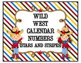 Wild West Calendar Numbers (Stars & Stripes)