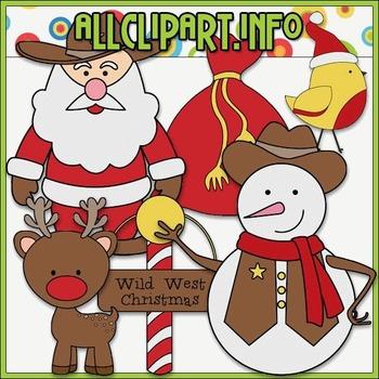 BUNDLED SET - Wild West Christmas 1 Clip Art & Digital Sta